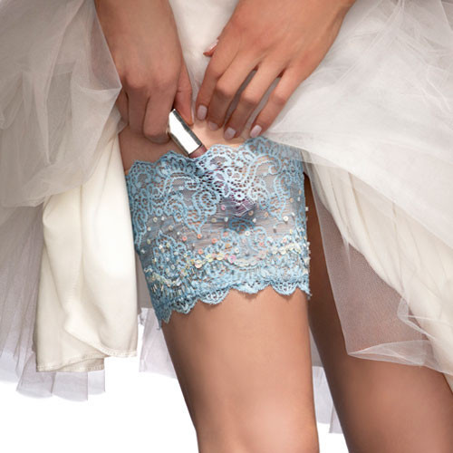 Wedding Garter for the Modern Bride - stashes wedding day essentials {plus phone} discreetly undetected under your bridal gown