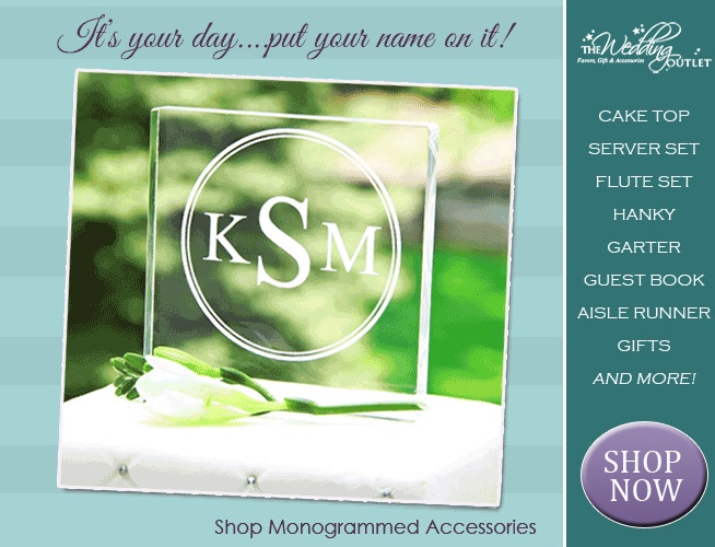 #Monogram #Themed #Wedding #Accessories : a growing popular trend
