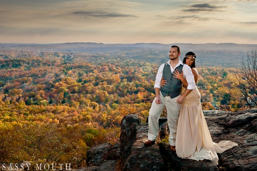 A Pocahontas Inspired Wedding - spectacular view of foliage - by Sassy Mouth Photography