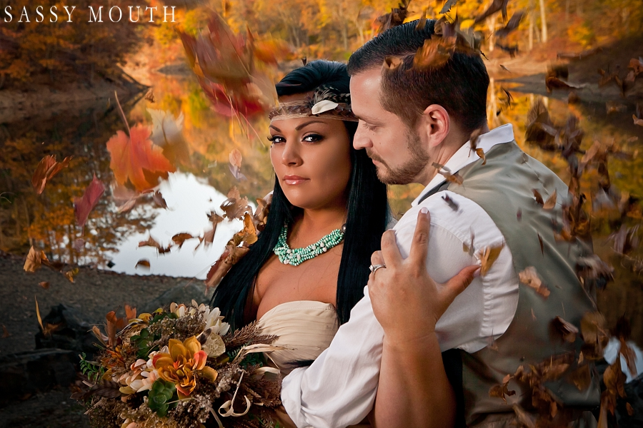 Pocahontas Inspired Wedding - by Sassy Mouth Photography