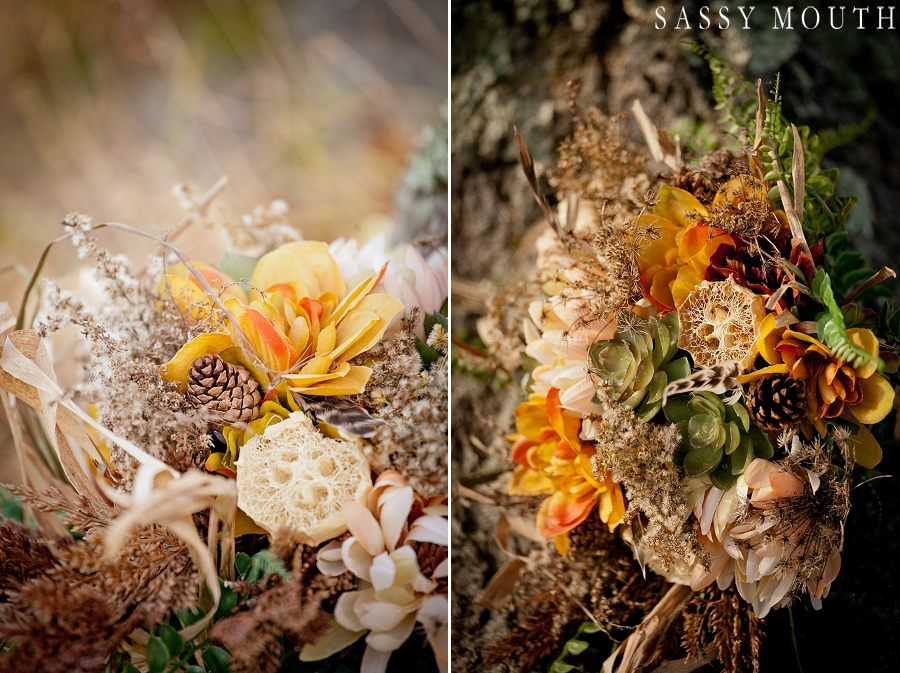 Gorgeous Fall Wedding Bouquet from a Pocahontas Inspired Wedding - by Sassy Mouth Photography