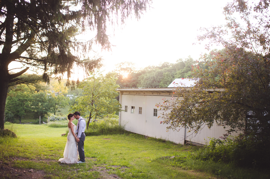 Pretty distance photo of the bride and groom | photo by Jessica Oh Photography