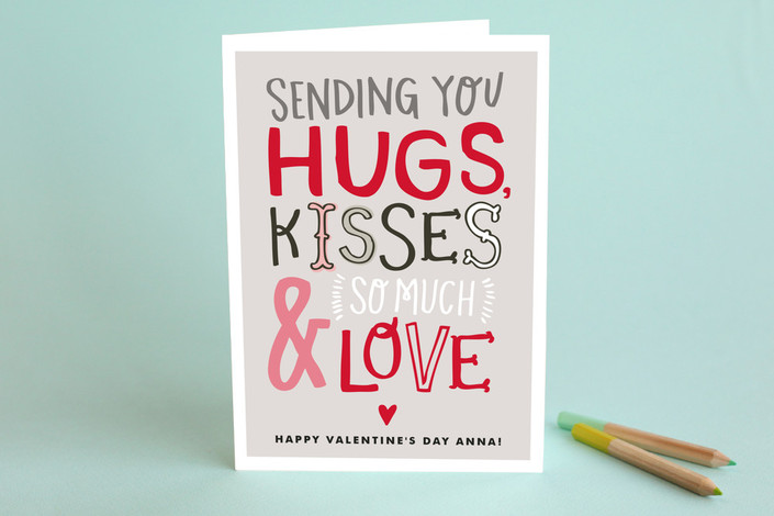 Doodle Words Valentine's Day Greeting Card #valentinesdaycards #lovecards #doodletype #valentinesday