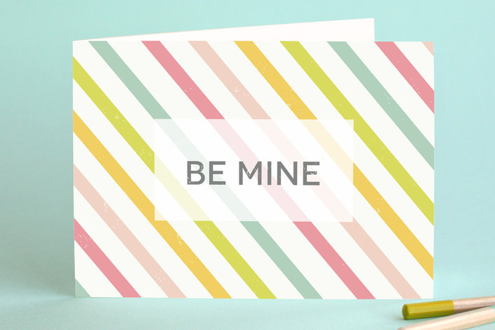 Candy Stripe Valentine's Day Greeting Card #valentinesdaycards #lovecards #valentinesday