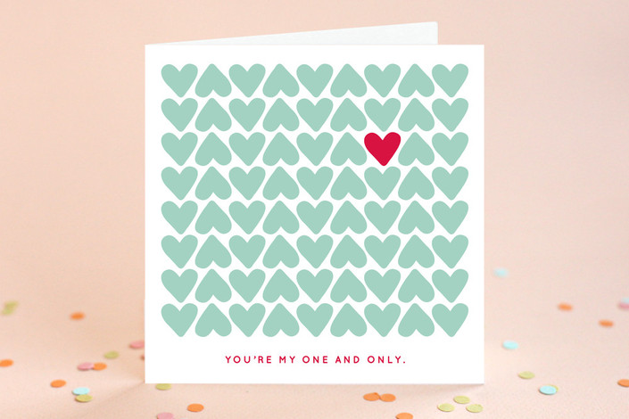 One and Only Valentine's Day Greeting Card #valentinesdaycards #lovecards #hearts #valentinesday