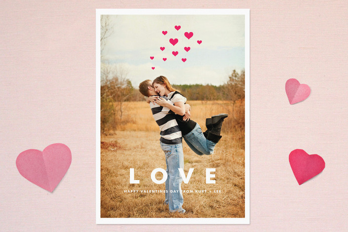 Hearts Aflutter Valentine's Day Card #valentinesdaycards #lovecards #valentinesday