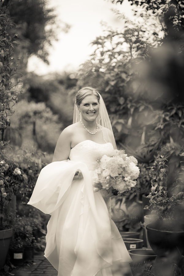 Gorgeous black and white bridal portrait from a California wedding along the coast | photo by Portrait Design by Shanti