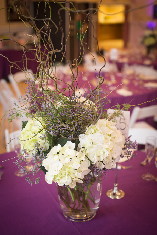 Wedding centerpiece with twigs | florals by Alena's Designs | photo by Portrait Design by Shanti