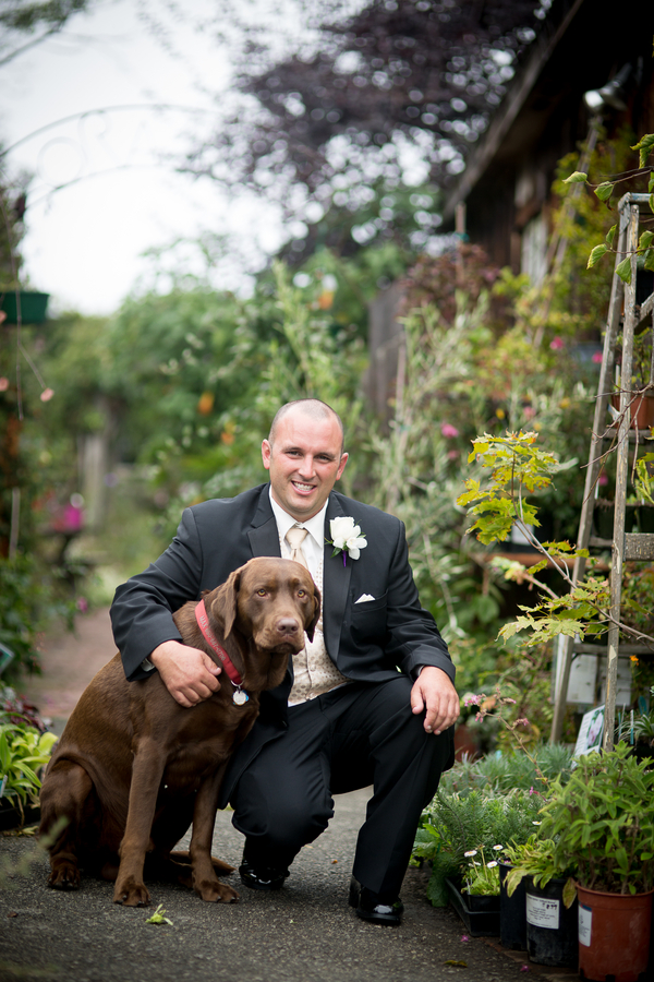 A groom and a dog | photo by Portrait Design by Shanti
