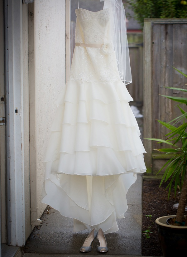 Pretty Bridal Dress from a California wedding along the coast | photo by Portrait Design by Shanti
