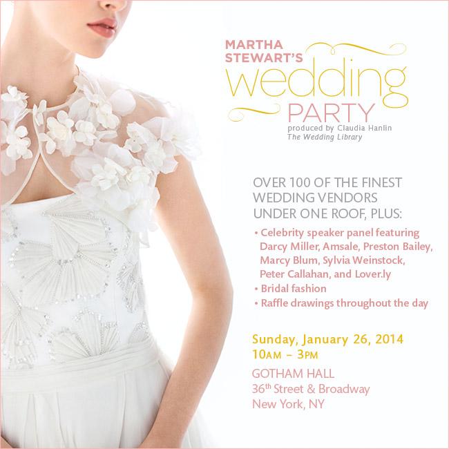 Win Tickets to Martha Stewart's Wedding Party NYC #giveaway #weddingcontest #marthastewart #nycbridalshow