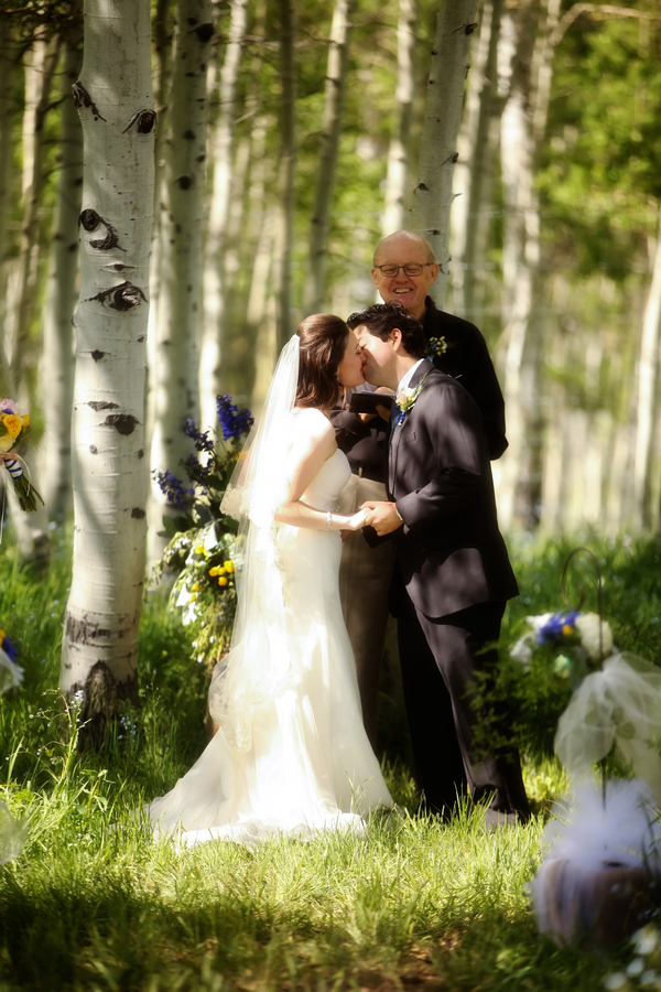 Utah wedding with the ceremony among an Aspen grove | Pepper Nix Photography