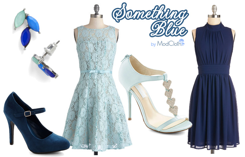 Something Blue #budgetfriendly #wedding styles from #ModCloth
