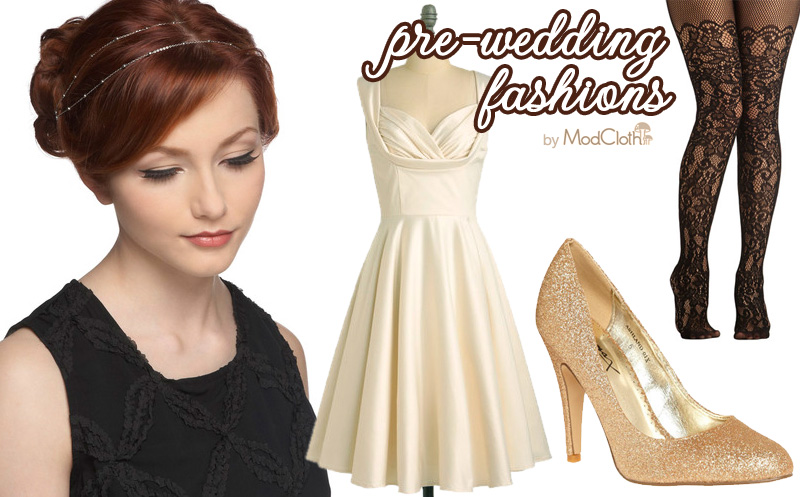 Top #Fashion Picks from ModCloth for all the fun #wedding #events leading up to the #bigday