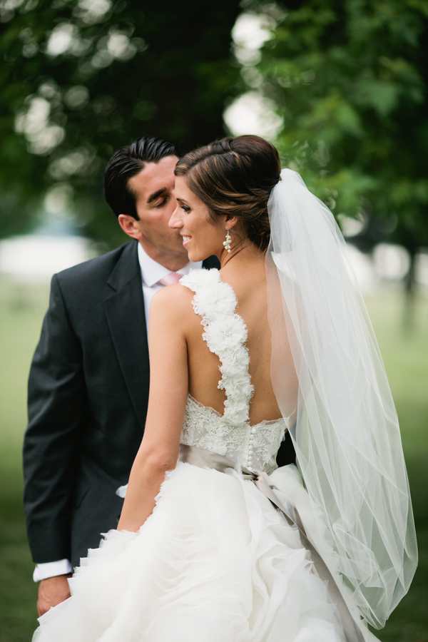 a sweet quiet moment with the bride and groom | photo by Mary Dougherty Photography