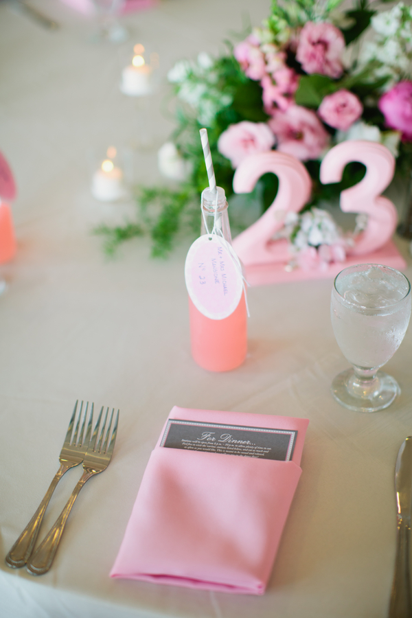 pretty pink table setting | photo by Mary Dougherty Photography