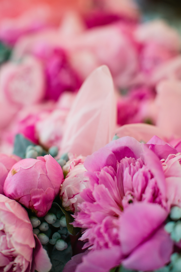 pretty pink wedding flowers | photo by Mary Dougherty Photography
