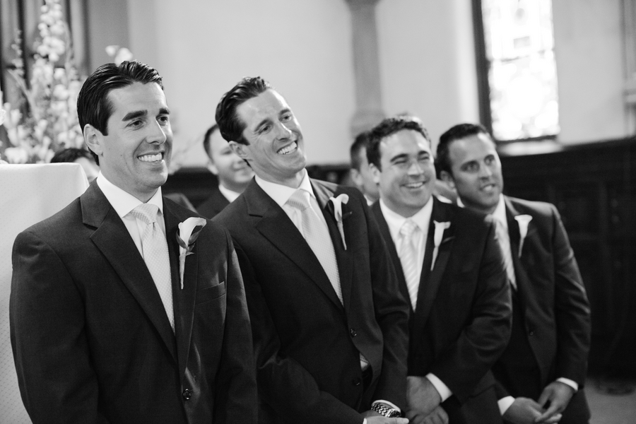 love the look on the guys as they watch the bride walk down the aisle | photo by Mary Dougherty Photography