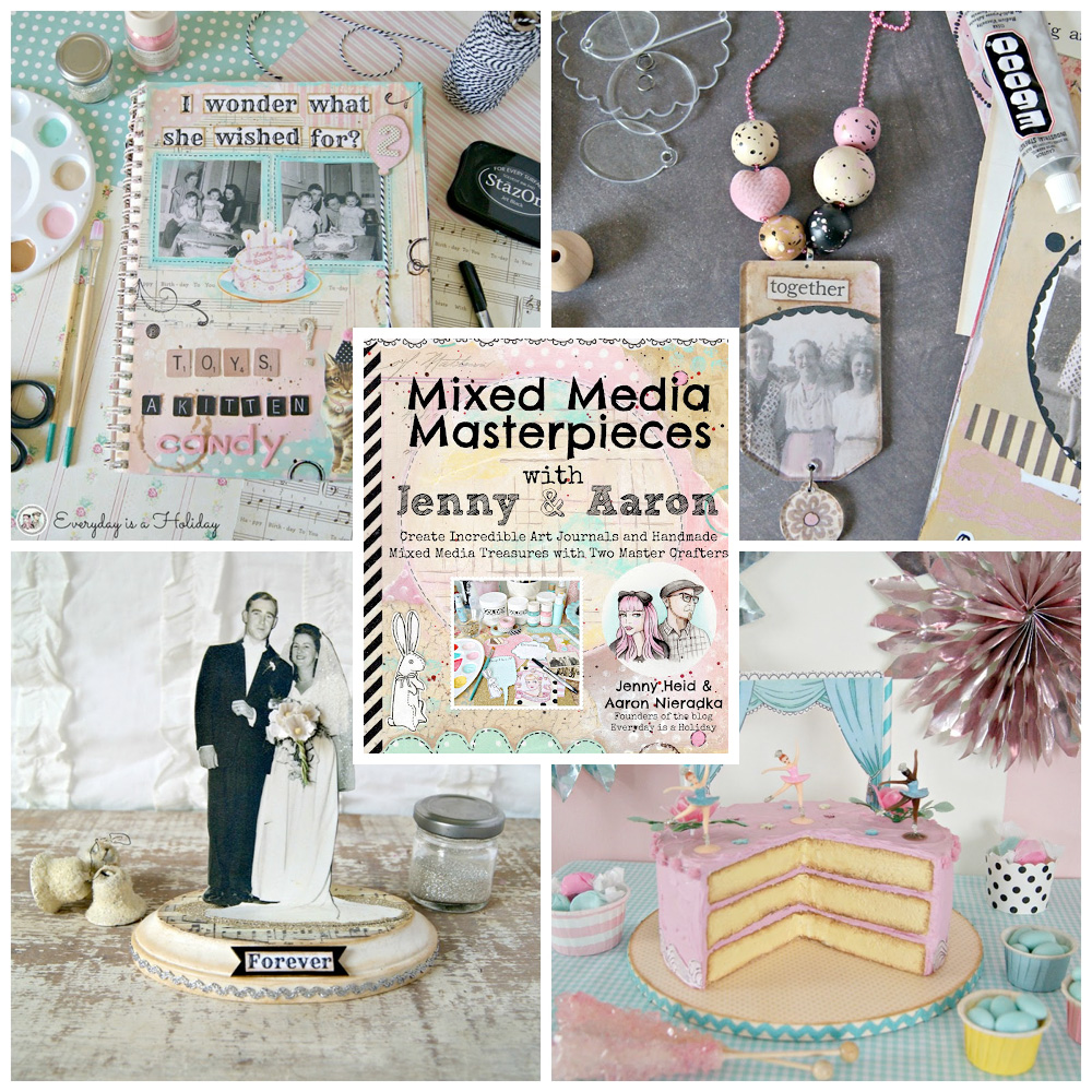 Mixed Media Masterpieces with jenny and Aaron - learn the art of mixed media crafting and create your own original masterpieces