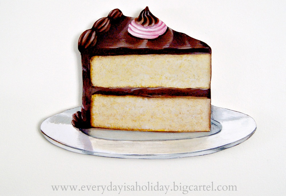 JUMBO piece of cake wood diecut from Everyday is a Holiday
