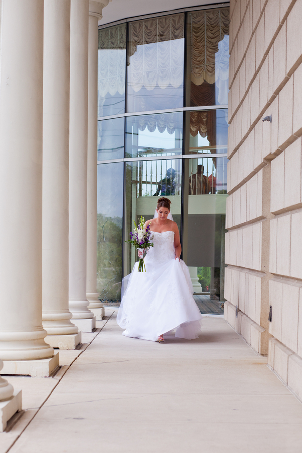 bride on the way to meet her groom for their first look | photo by Kate's Lens Photography