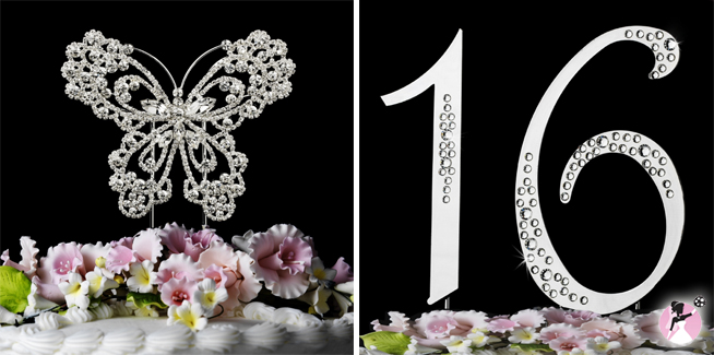 Sweet Sixteen Cake Toppers #sweetsixteenparty www.withthisbling.com #withthisbling