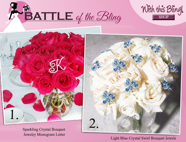 Personalized Bridal Bouquet Jewelry or Something Blue Bouquet Jewelry? Which would you choose? Come share your favorite on #brendasweddingblog