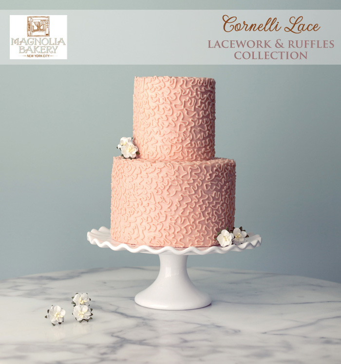 Magnolia Bakery Wedding Cakes : Cornelli Lace from the Lacework and Ruffles Collection