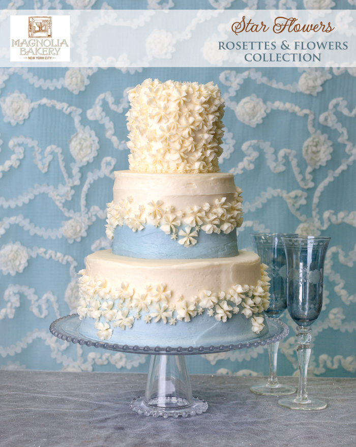 Magnolia Bakery Wedding Cakes : Star Flowers from the Rosettes and Flowers Collection