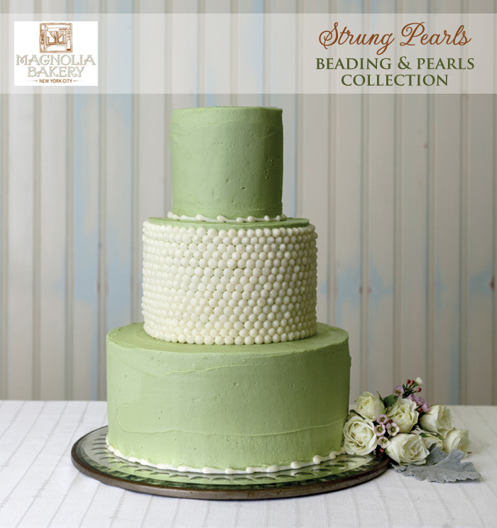 Magnolia Bakery Wedding Cakes : Strung Pearls from the Beading and Pearls Collection