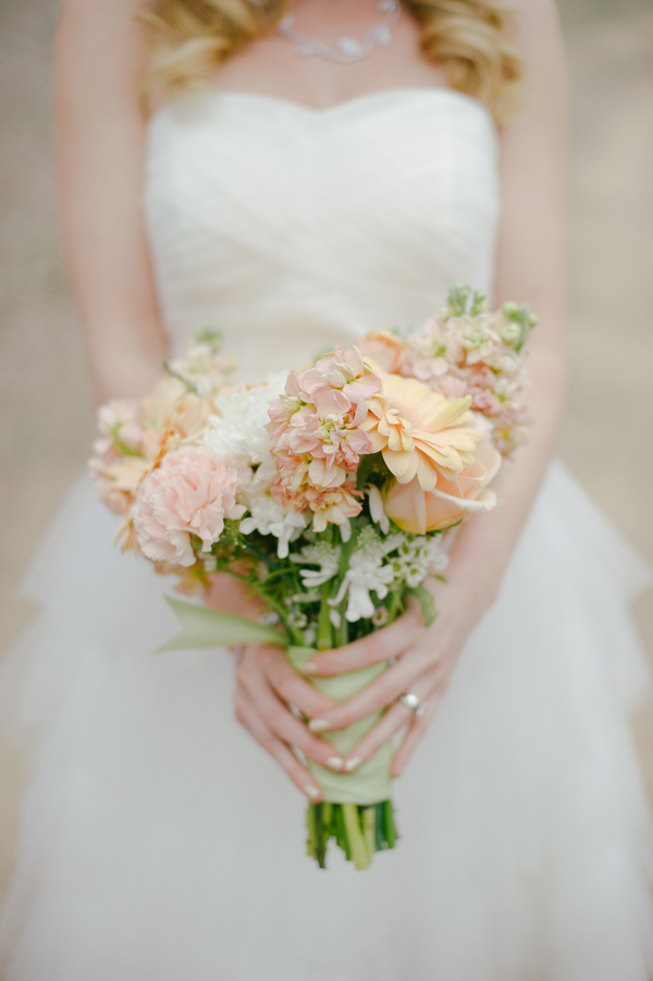 pretty spring pastel wedding bouquet | by San Diego Floral Design LLC | photo by John DeFiora Photography