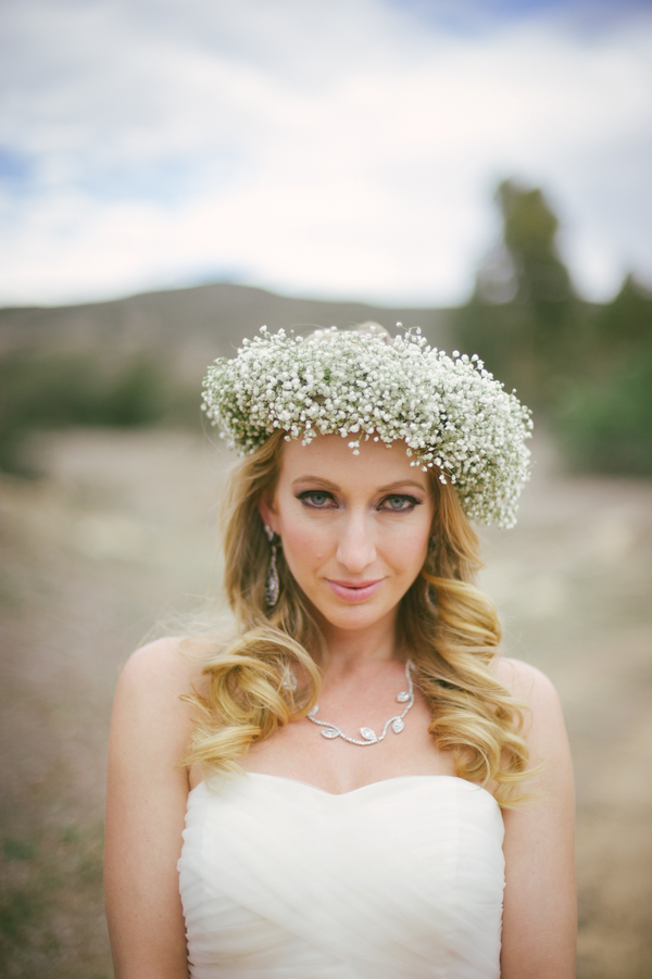 Baby's Breath floral crown | by San Diego Floral Design LLC | photo by John DeFiora Photography
