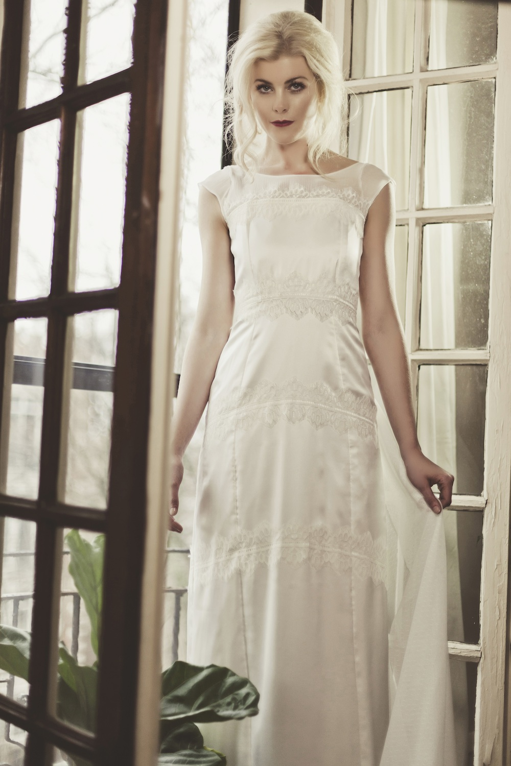 Veronica Sheaffer Orchid Wedding Gown