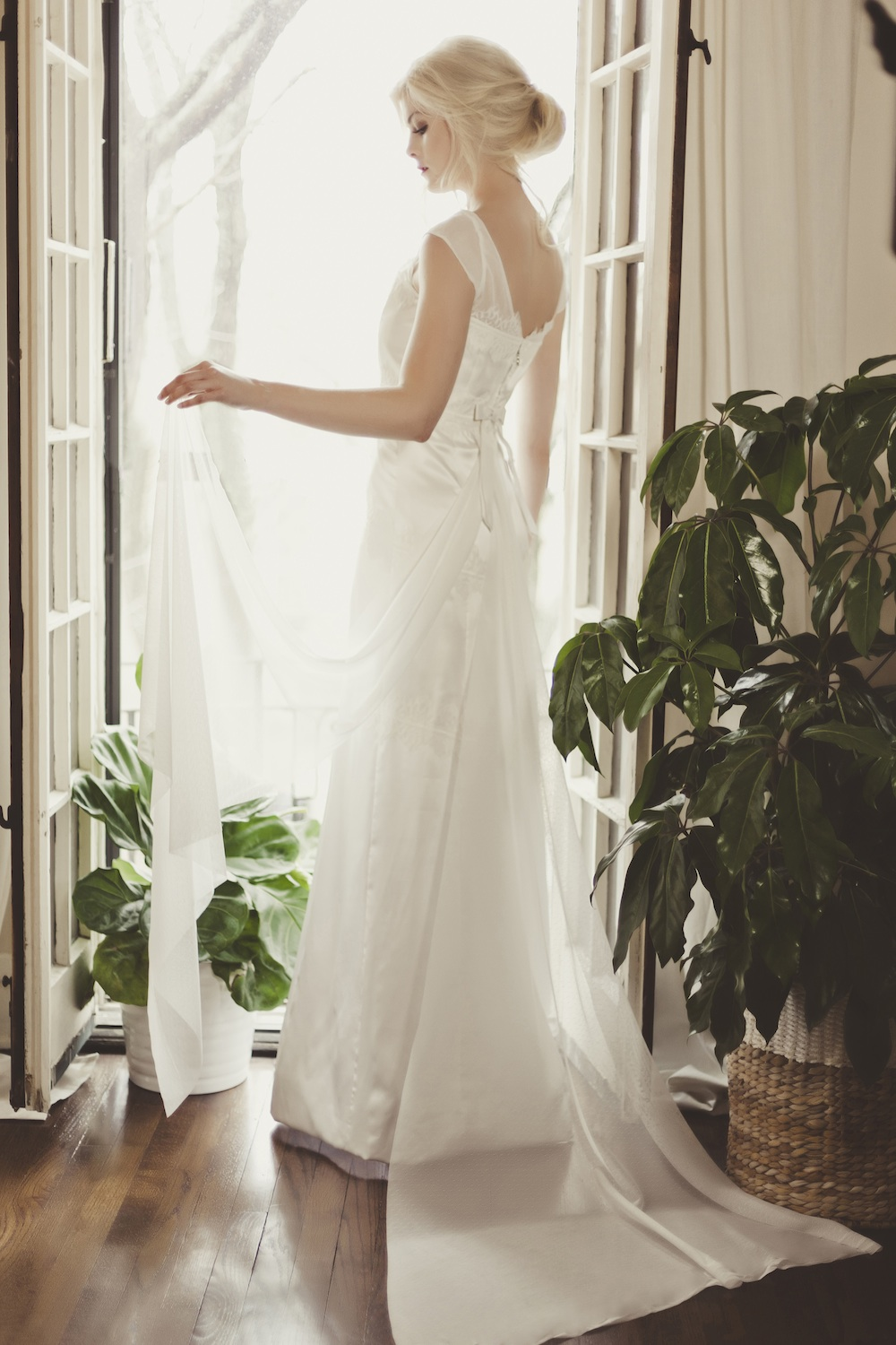 Veronica Sheaffer Orchid Wedding Gown {backside}