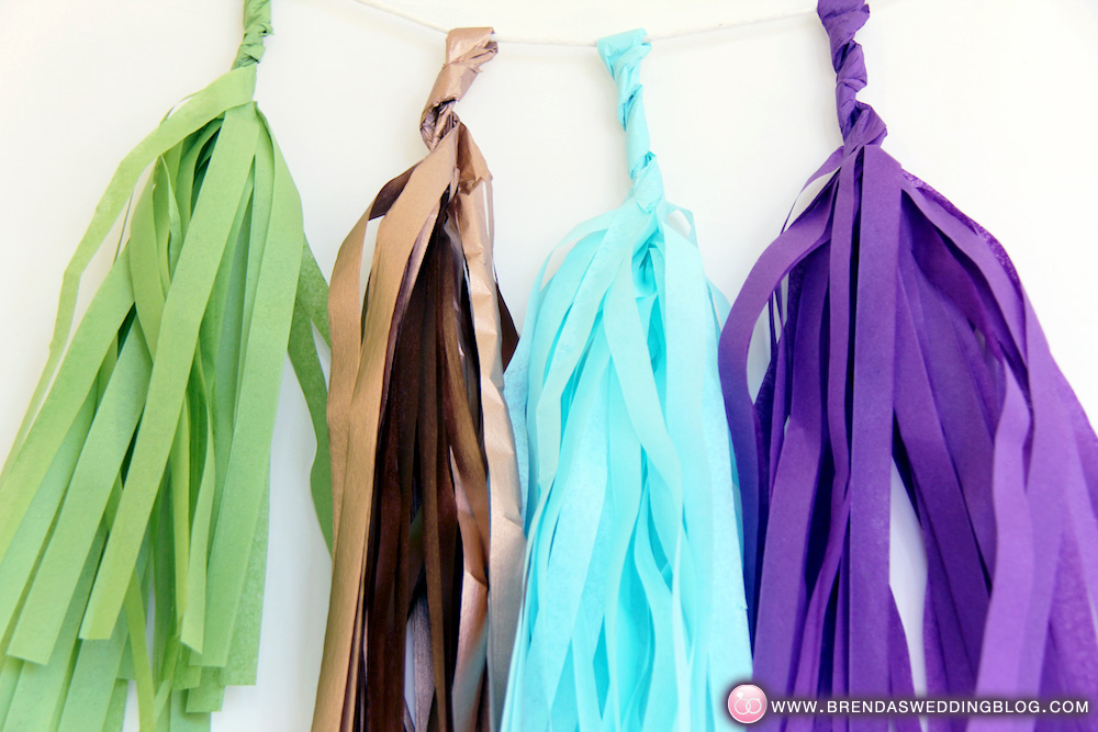 DIY Tissue Tassel Garland from The Flair Exchange