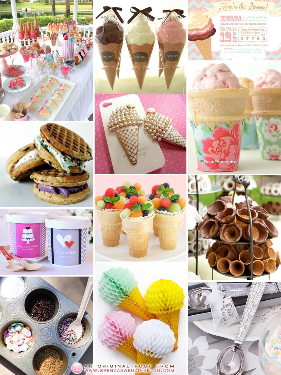 A Homemade Ice Cream Bridal Shower : Ideas inspired by Scoop Adventures