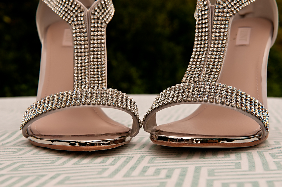 Gorgeous Rhinestone Embellished Wedding Shoes | photo by wwww.EverAfterVisuals.com as seen on www.brendasweddingblog.com