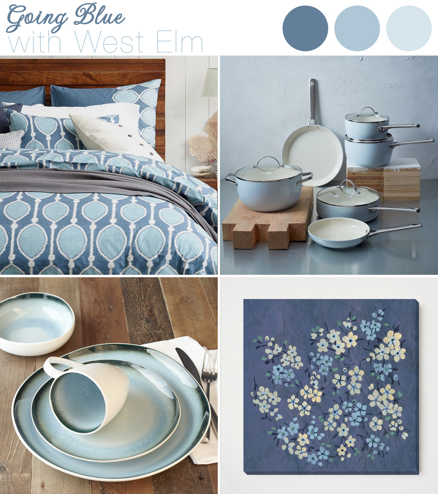 West Elm - creating your #newlywed home with their new #wedding + #gift #registry in blue colors