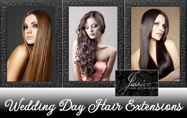 #Wedding Day #Hair #Extensions | courtesy of Jessica Hair Extensions via www.brendasweddingblog.com