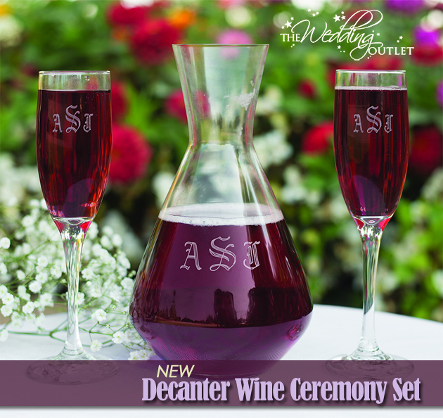 Decanter Wine Ceremony Set from The Wedding Outlet | Unique Ceremony Accessories