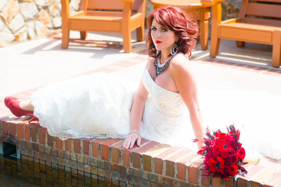 1950's era Styled Bridal Shoot | bouquet by Bluegrass Chic | dress from Angelique Bridal | photo by The Story Telling Experience