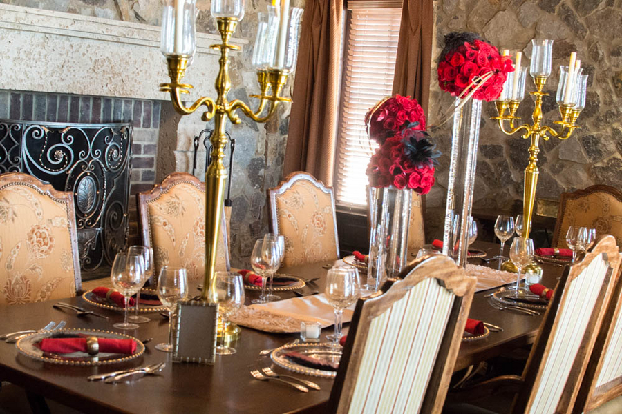 Hollywood Glam Tablesetting | Styled Bridal Shoot | photo by The Story Telling Experience