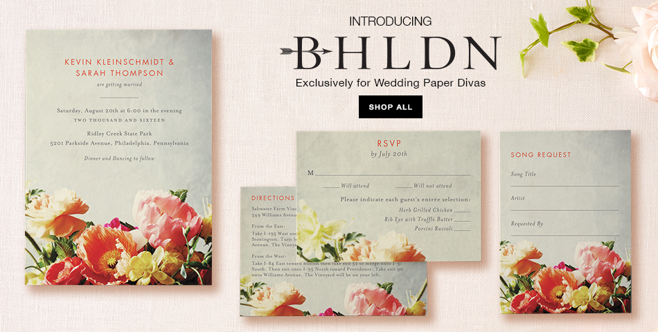 BHLDN Wedding Invitation Collection created exclusively for Wedding Paper Divas | as seen on BrendasWeddingBlog.com