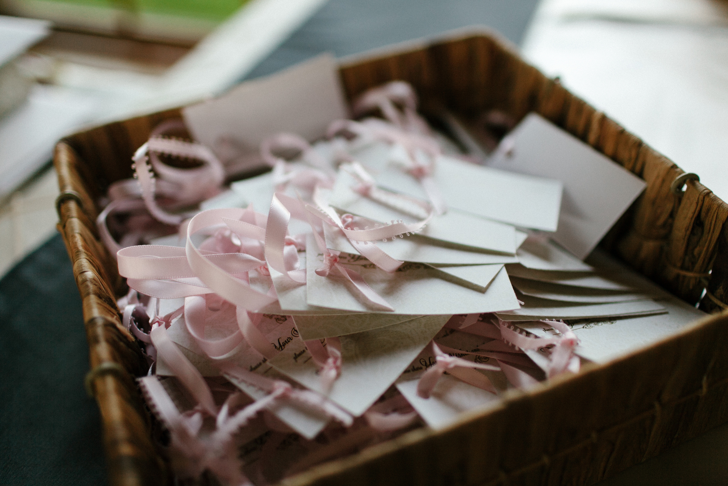 Wedding Programs in a Basket | photo by blf Studios | wedding by Madeline's Weddings