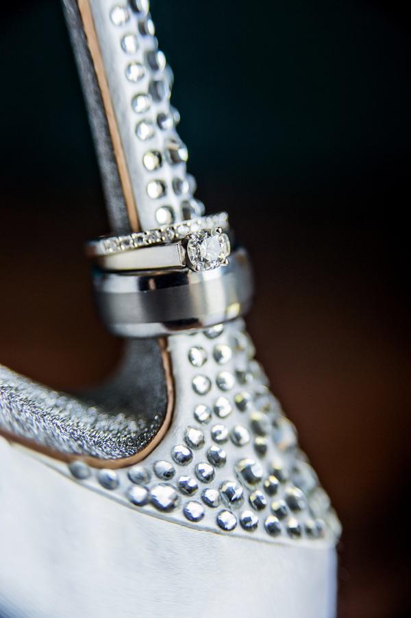 Amazing Ring Shot on a Nine West Wedding Shoe Heel | photo by Ross Costanza Photography | via www.BrendasWeddingBlog.com