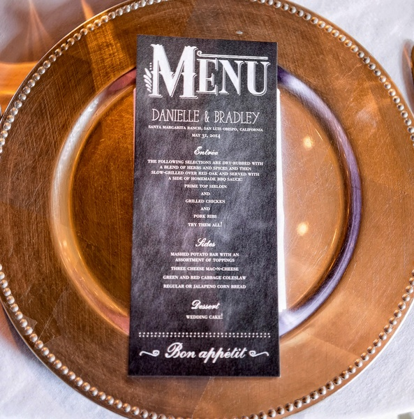 Chalkboard Art Designed Wedding Menu | Photo by William Innes Photography | via www.brendasweddingblog.com