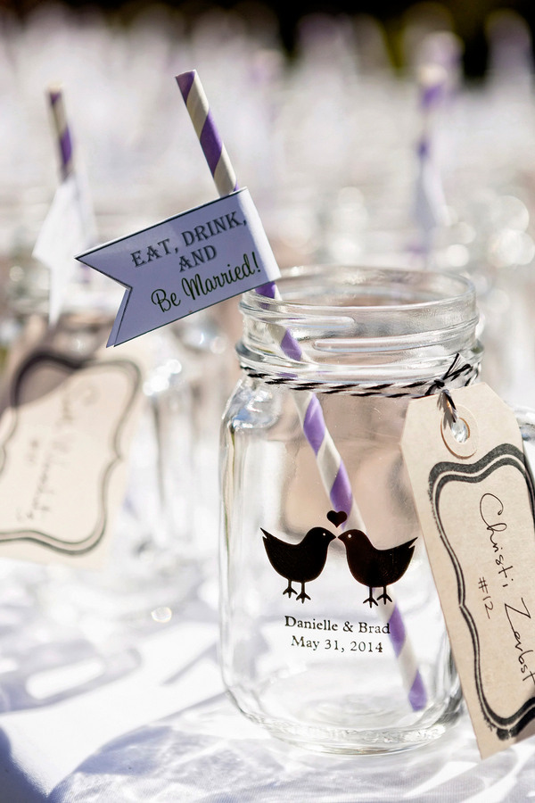 Pesonalized Mason Jars for a Rustic Wedding | Photo by William Innes Photography | via www.brendasweddingblog.com