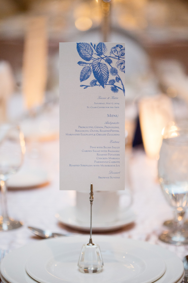 Wedding Menu {vertical style} | photo by Real Image Photography | as seen on www.brendasweddingblog.com