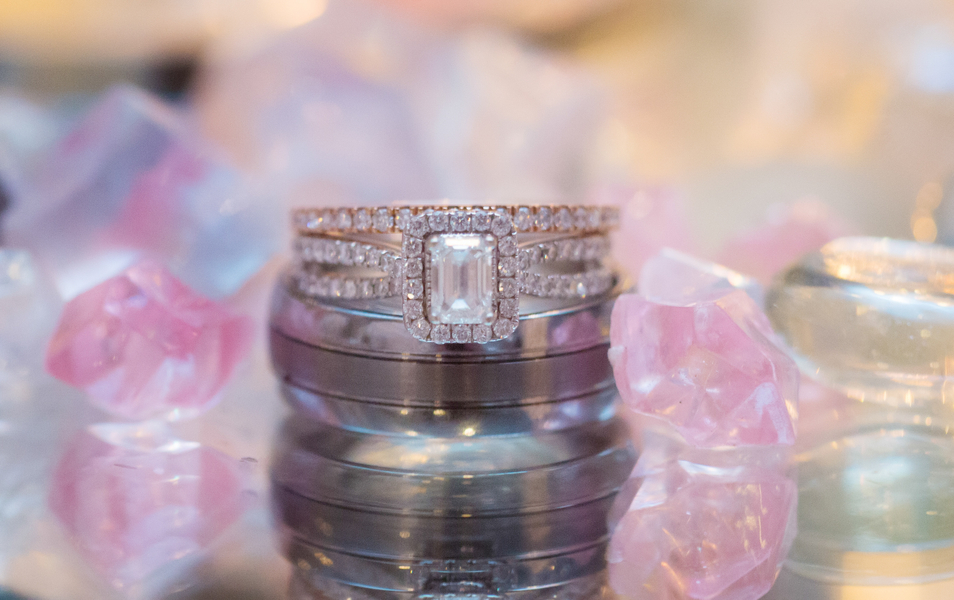 Wedding Rings with Candy | photo by Real Image Photography | as seen on www.brendasweddingblog.com