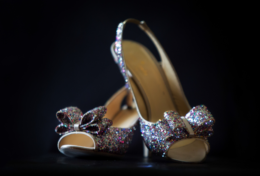 Kate Spade Glittered Wedding Shoes | photo by Real Image Photography | as seen on www.brendasweddingblog.com
